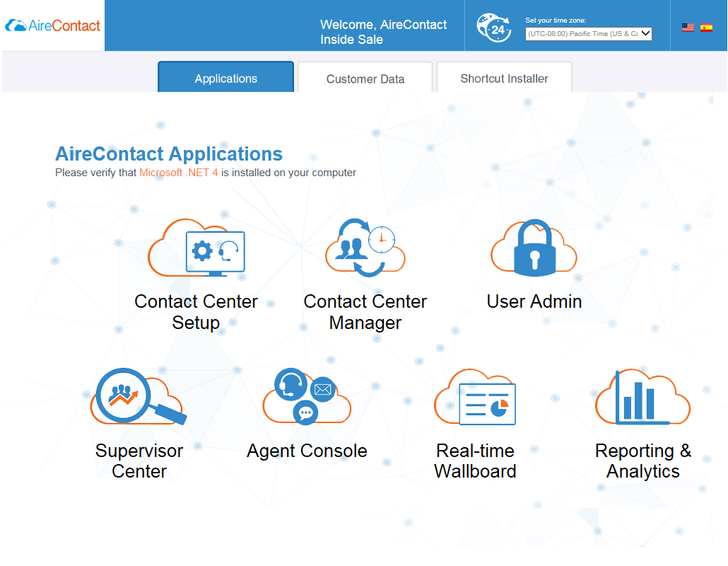 Call Center Application Portal | AireContact